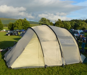Our tent, as taken by Jake